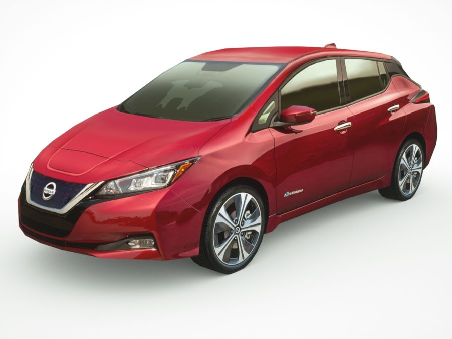 2018 Nissan LEAF royalty-free 3d model - Preview no. 1