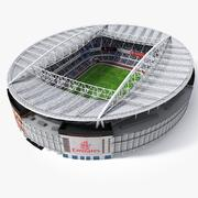 Stade de football Lowpoly (Arsenal Emirates Arena) 3d model