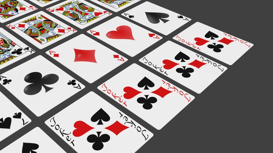 Giocando a carte royalty-free 3d model - Preview no. 11