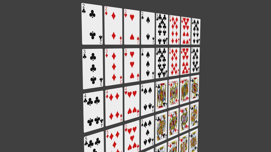 Giocando a carte royalty-free 3d model - Preview no. 14