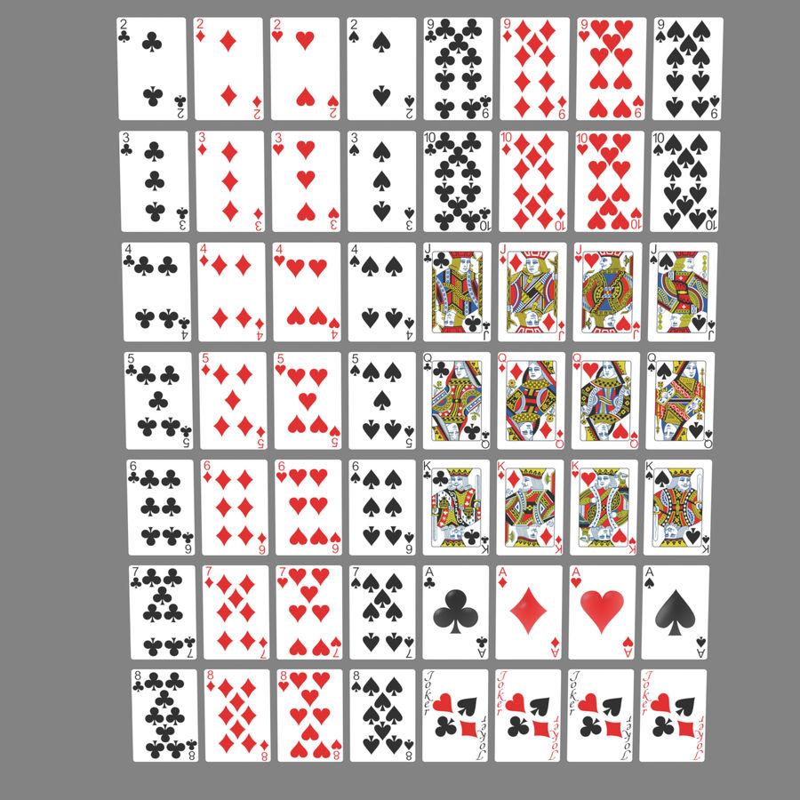 Giocando a carte royalty-free 3d model - Preview no. 1