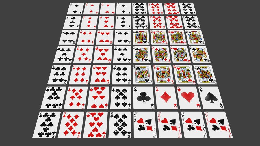 Giocando a carte royalty-free 3d model - Preview no. 2