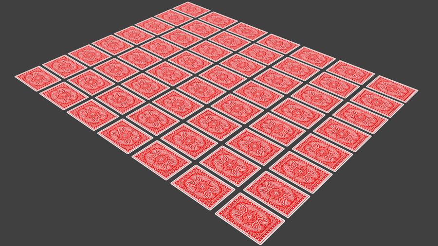 Giocando a carte royalty-free 3d model - Preview no. 5