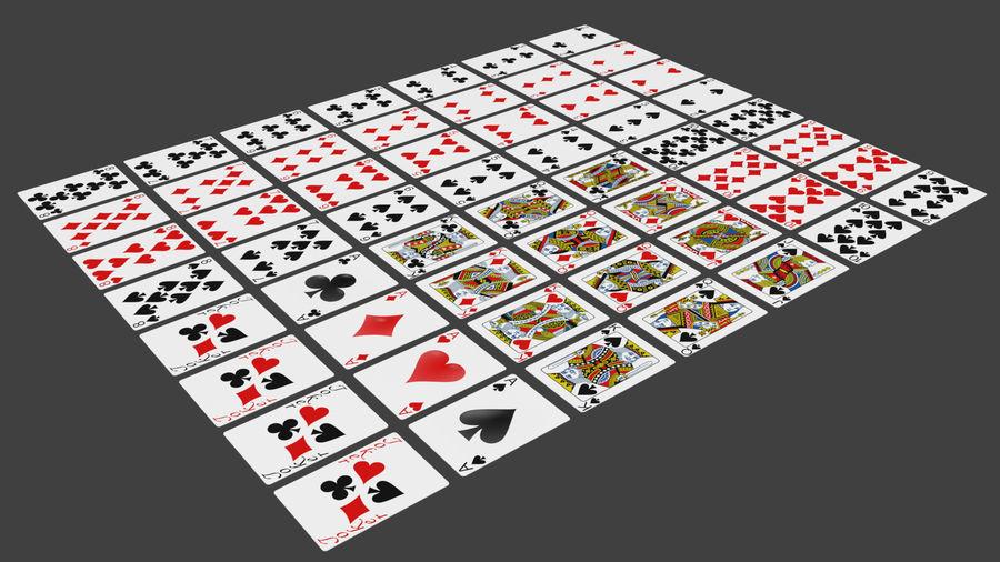Giocando a carte royalty-free 3d model - Preview no. 4