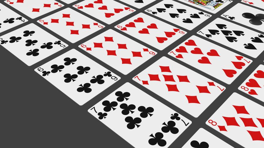 Giocando a carte royalty-free 3d model - Preview no. 8