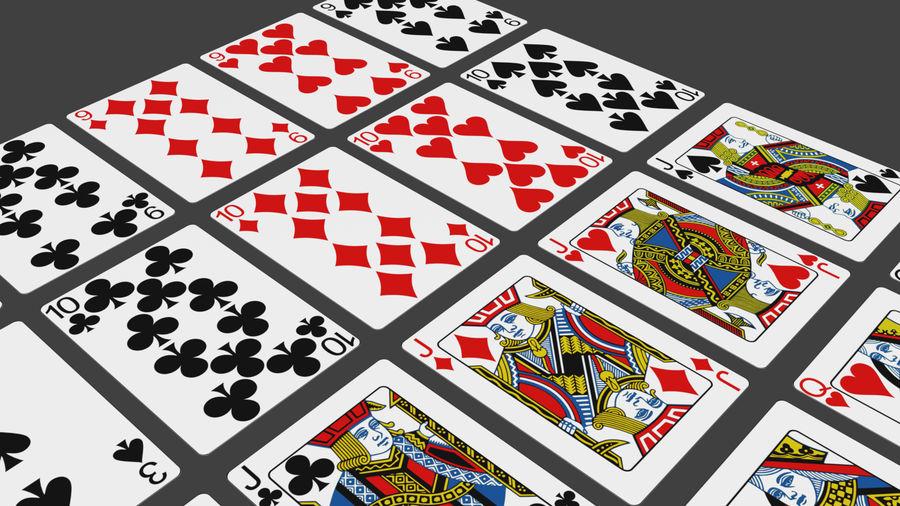 Giocando a carte royalty-free 3d model - Preview no. 9