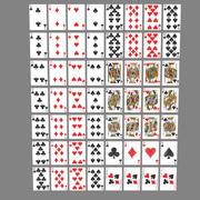 Kartenspielen 3d model