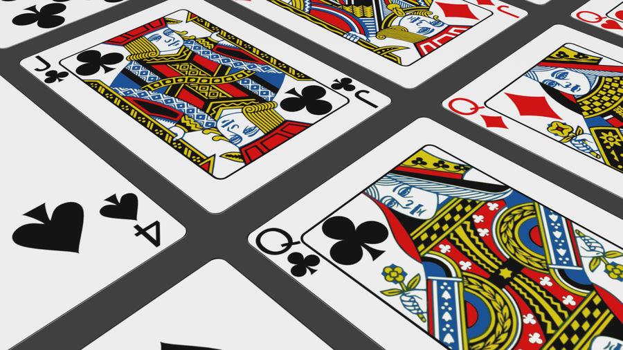 Giocando a carte royalty-free 3d model - Preview no. 12