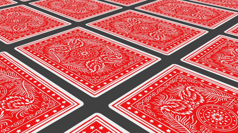 Giocando a carte royalty-free 3d model - Preview no. 13