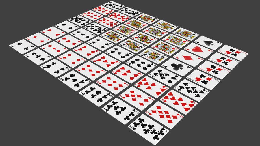 Giocando a carte royalty-free 3d model - Preview no. 3