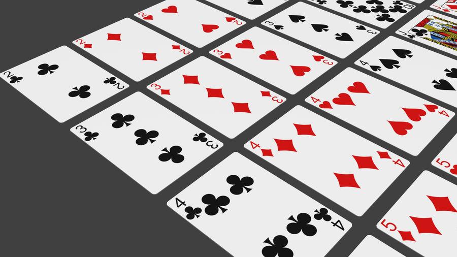 Giocando a carte royalty-free 3d model - Preview no. 7