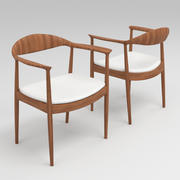 Hans Wegner Kennedy Arm Chair 3d model