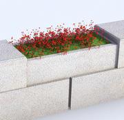 Çiçeklik Çit 3d model