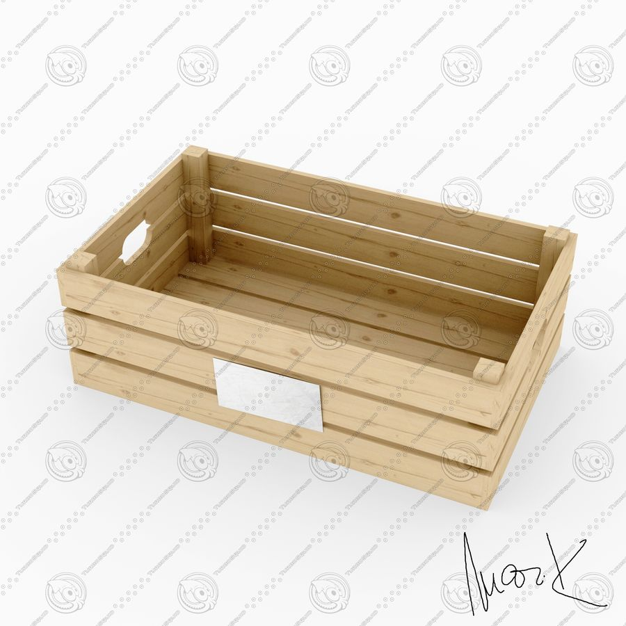 Obstkisten aus Holz royalty-free 3d model - Preview no. 3