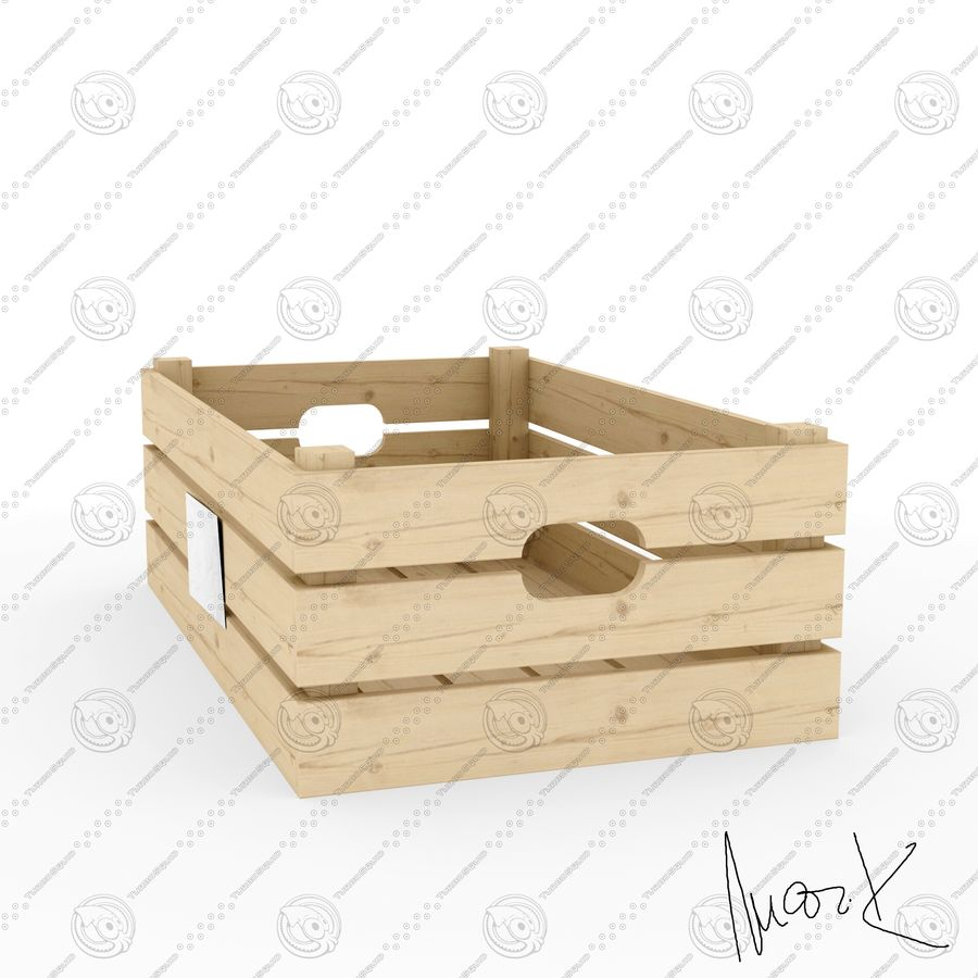 Obstkisten aus Holz royalty-free 3d model - Preview no. 4