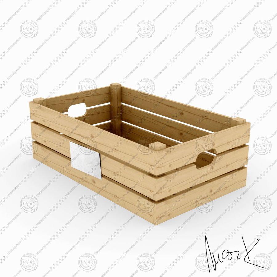 Obstkisten aus Holz royalty-free 3d model - Preview no. 2