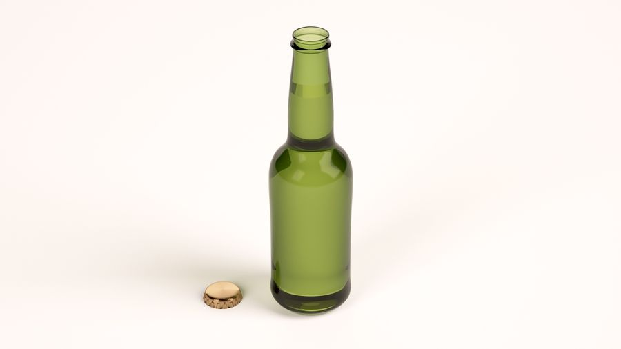 Beer Bottle royalty-free 3d model - Preview no. 2