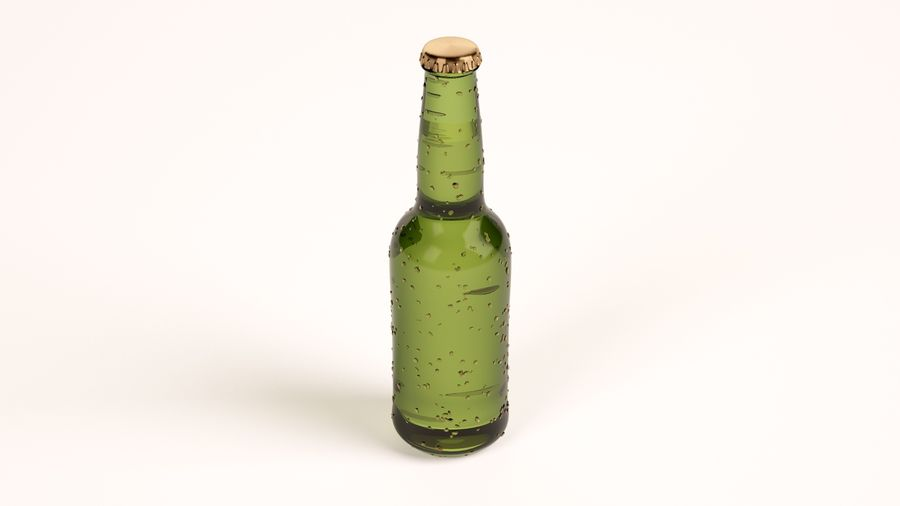 Beer Bottle royalty-free 3d model - Preview no. 1