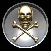 Skull cross bones frame 3d model