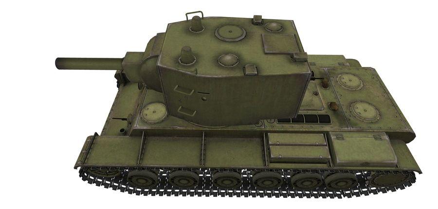 KV-2 Heavy Tank royalty-free 3d model - Preview no. 4