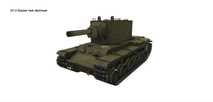 KV-2 Heavy Tank royalty-free 3d model - Preview no. 1