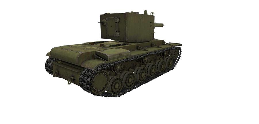 KV-2 Heavy Tank royalty-free 3d model - Preview no. 2