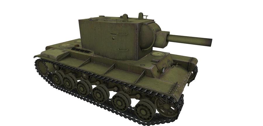KV-2 Heavy Tank royalty-free 3d model - Preview no. 3