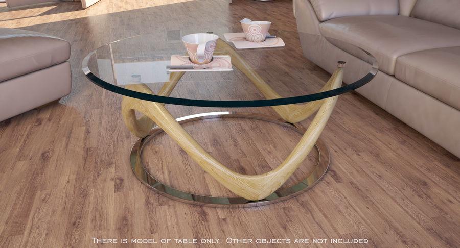 现代咖啡桌 royalty-free 3d model - Preview no. 2