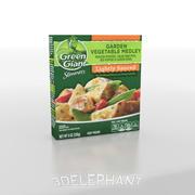 Imballaggio per alimenti surgelati - Verdure 3d model