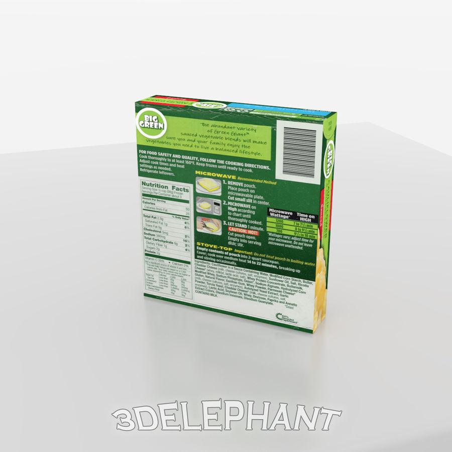 Imballaggio per alimenti surgelati - Cavolfiore royalty-free 3d model - Preview no. 4