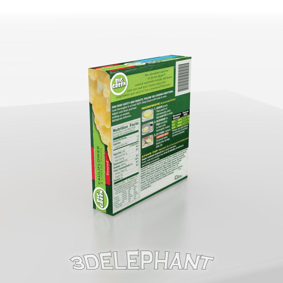 Imballaggio per alimenti surgelati - Cavolfiore royalty-free 3d model - Preview no. 3