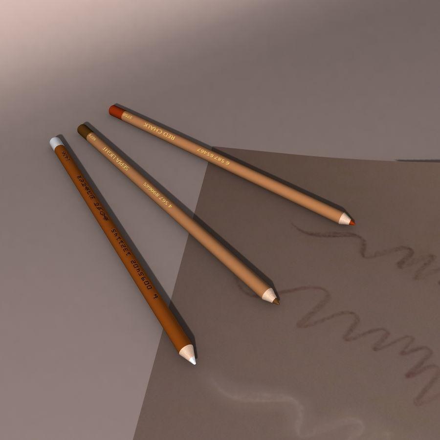 Lápis De Desenho royalty-free 3d model - Preview no. 2