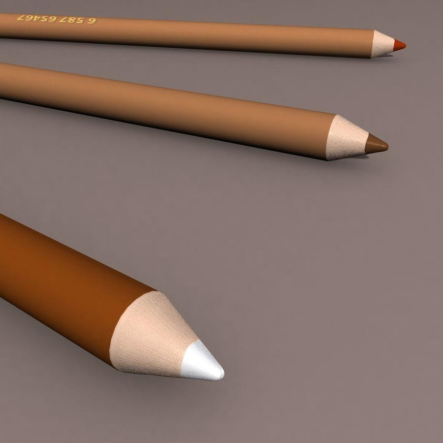 Lápis De Desenho royalty-free 3d model - Preview no. 3