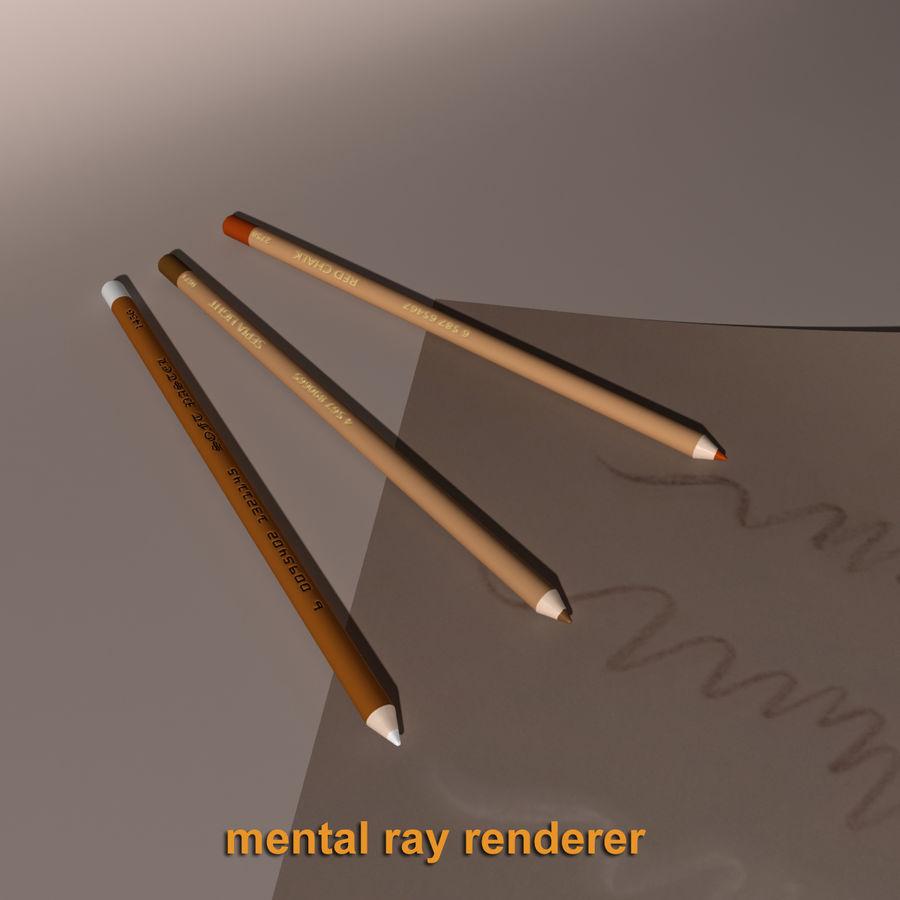 Lápis De Desenho royalty-free 3d model - Preview no. 6
