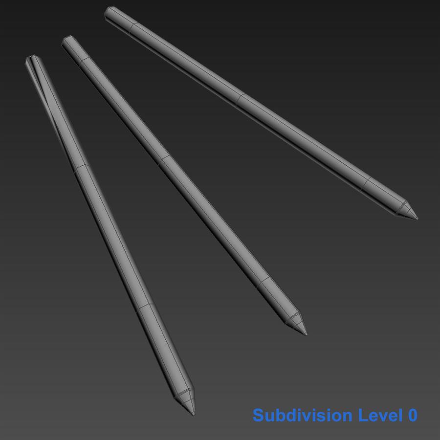 Lápis De Desenho royalty-free 3d model - Preview no. 4
