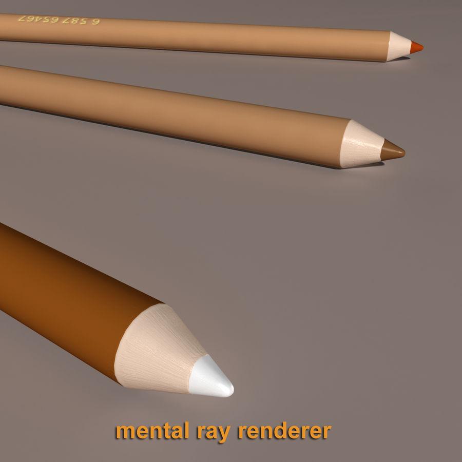Lápis De Desenho royalty-free 3d model - Preview no. 7