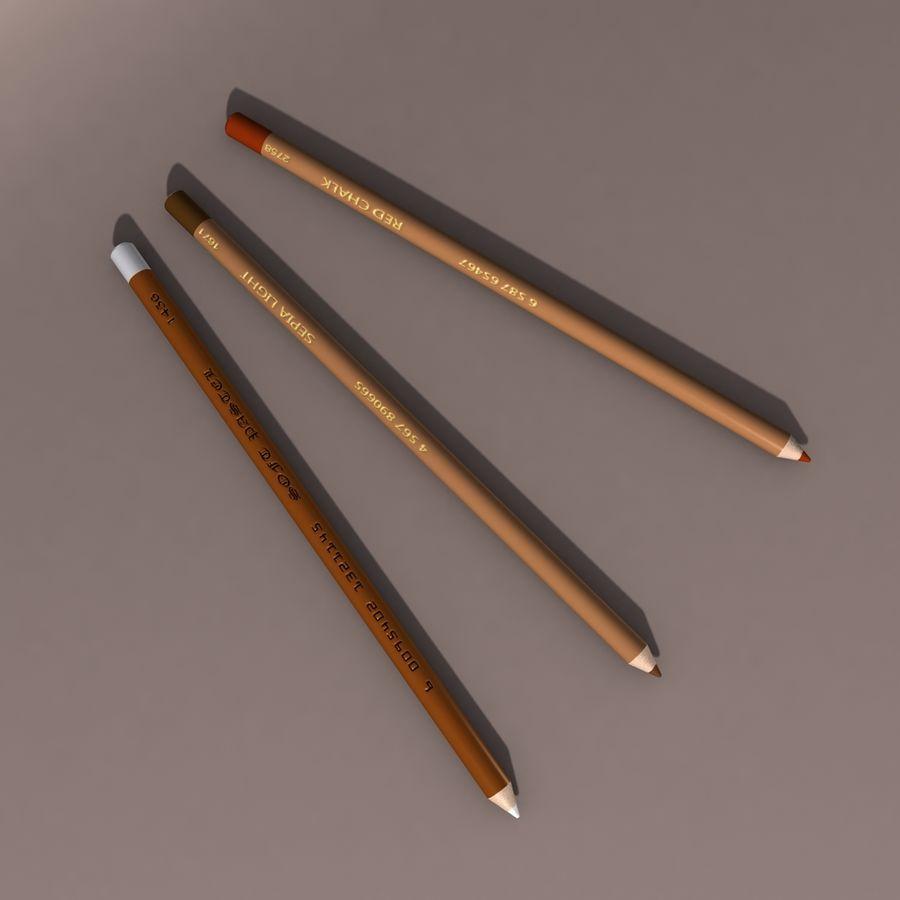 Lápis De Desenho royalty-free 3d model - Preview no. 1