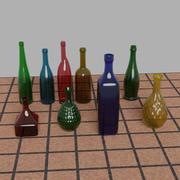 9 flaskor 3d model