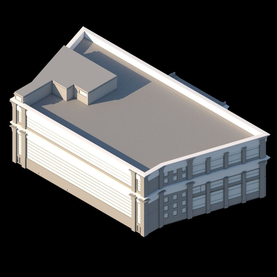 Sport Complex royalty-free 3d model - Preview no. 5