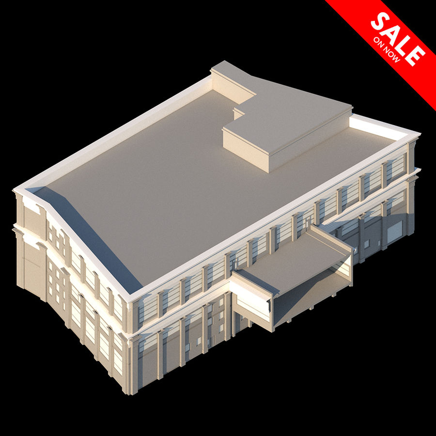 Sport Complex royalty-free 3d model - Preview no. 1