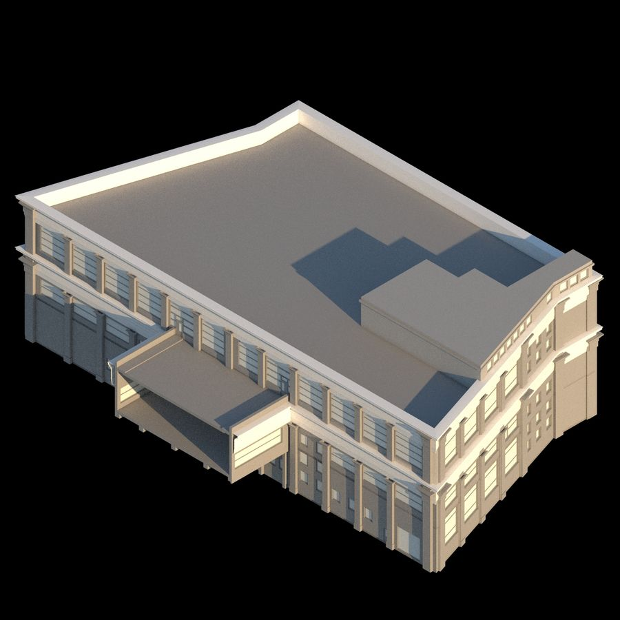 Sport Complex royalty-free 3d model - Preview no. 3