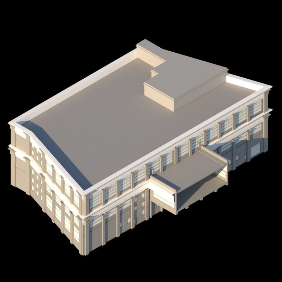 Sport Complex royalty-free 3d model - Preview no. 2