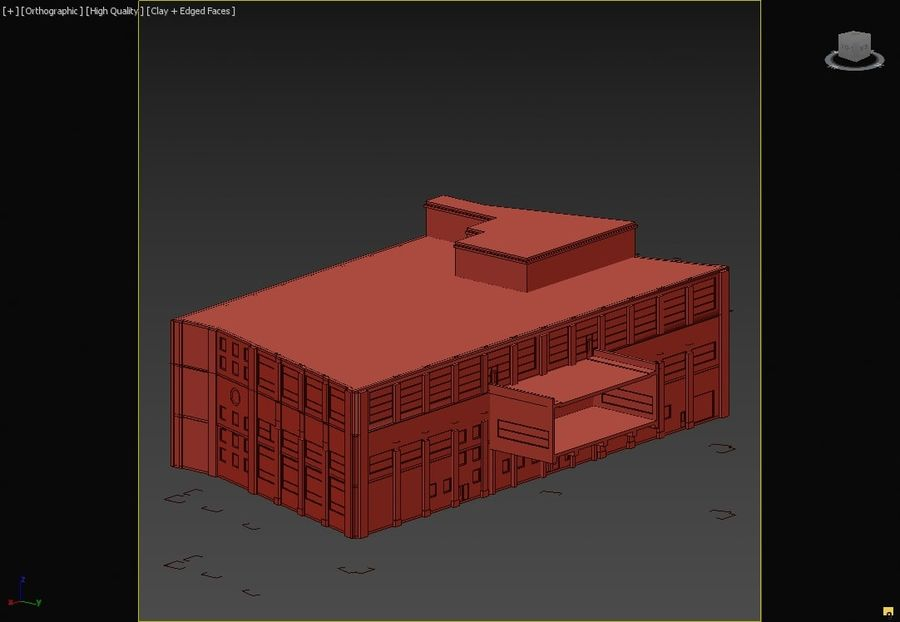 Sport Complex royalty-free 3d model - Preview no. 6