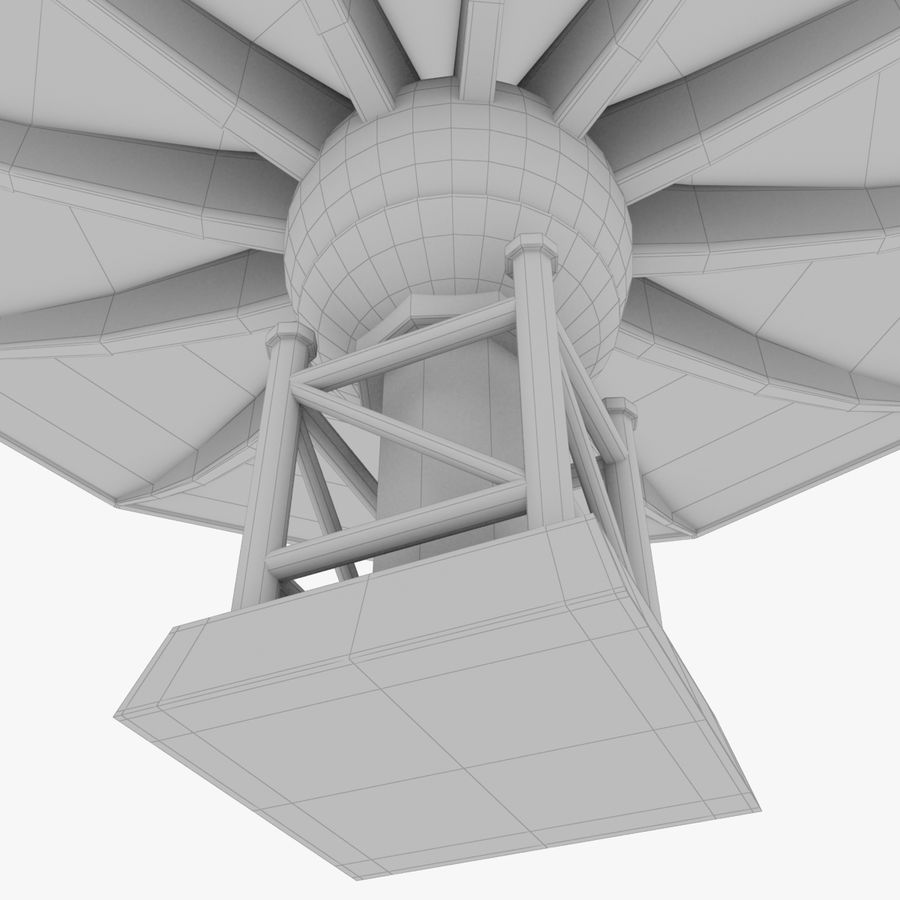 Satellietschotel V1 royalty-free 3d model - Preview no. 7