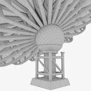 Antena parabólica de techo V2 modelo 3d