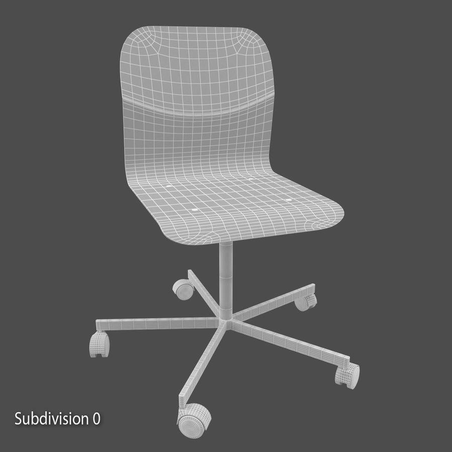 Sedia della scrivania royalty-free 3d model - Preview no. 8