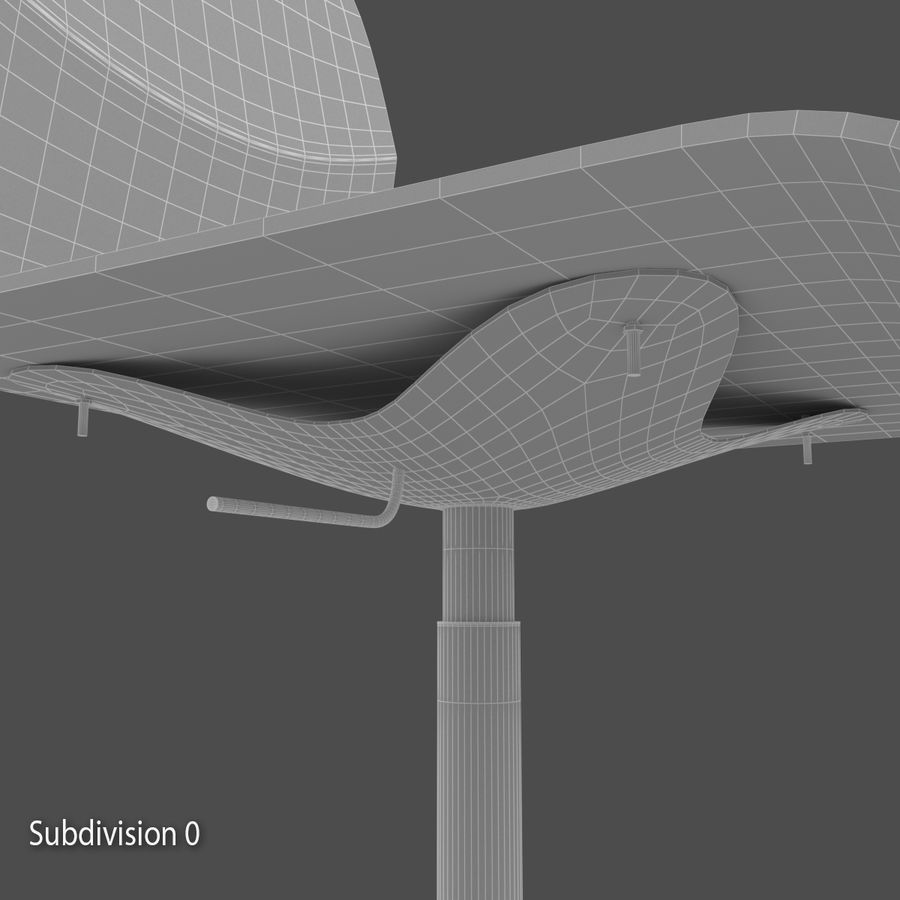 Sedia della scrivania royalty-free 3d model - Preview no. 9