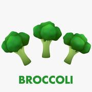 ブロッコリー-漫画野菜 3d model