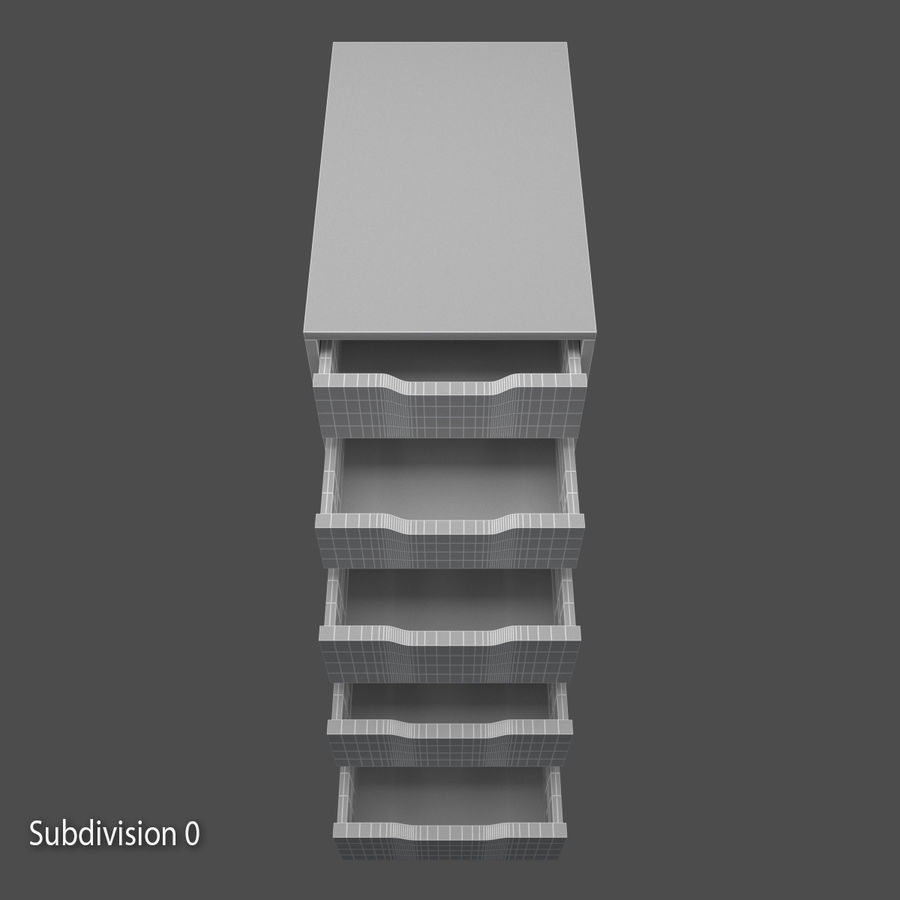 Drawer royalty-free 3d model - Preview no. 10