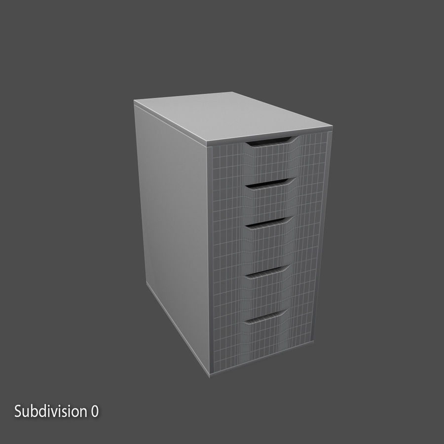 Drawer royalty-free 3d model - Preview no. 8